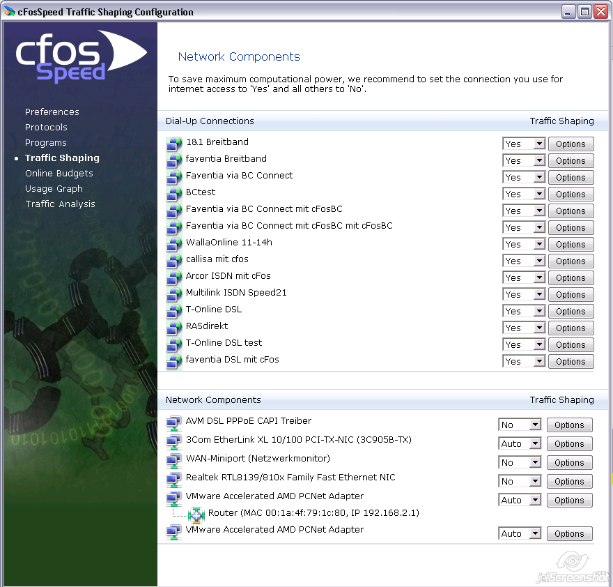 cFosSpeed Documentation - Connections - Internet-Accelerator + Ping ...