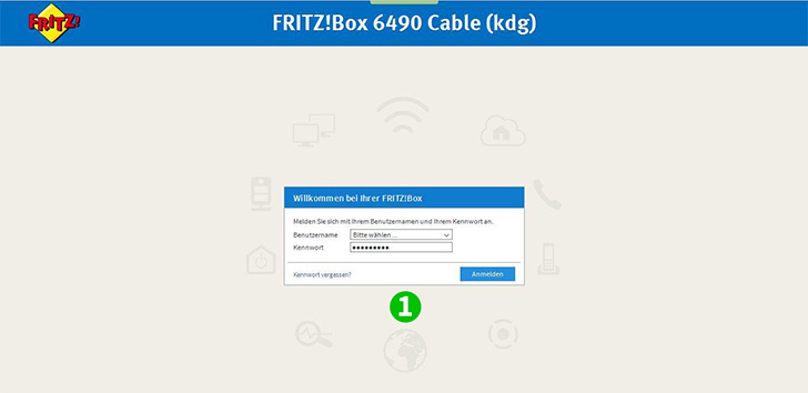 AVM FRITZ!Box 6490 Cable Step 1