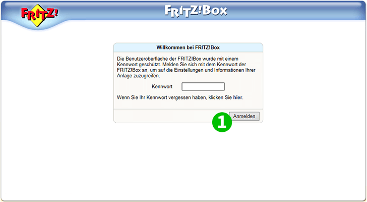 AVM FRITZ!Box 7113 Step 1