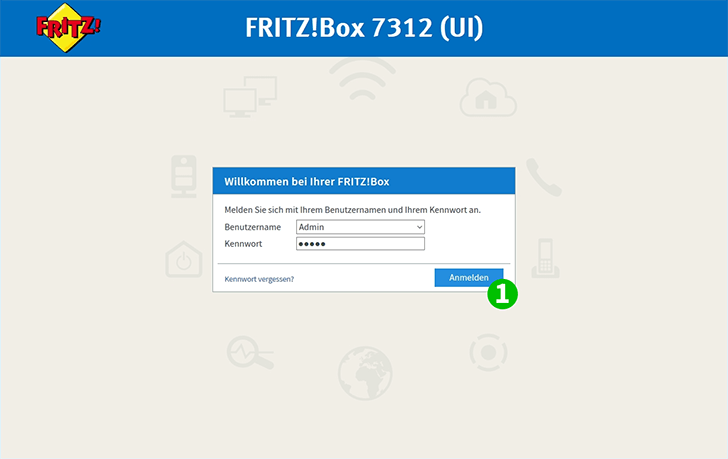 AVM FRITZ!Box 7312 Step 1