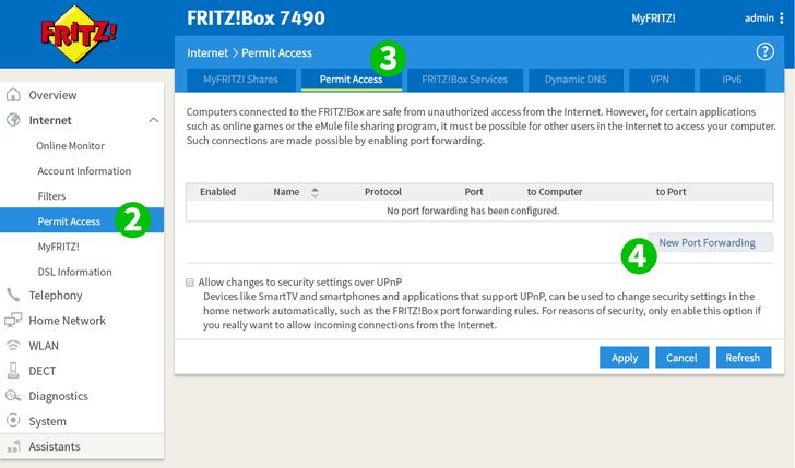 Fritzbox Upnp