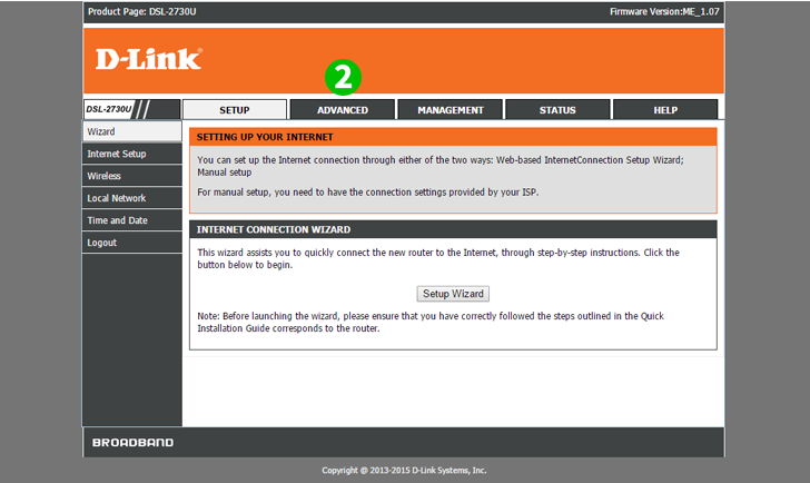 Enable port forwarding for the D-Link DSL-2730U - cFos Software