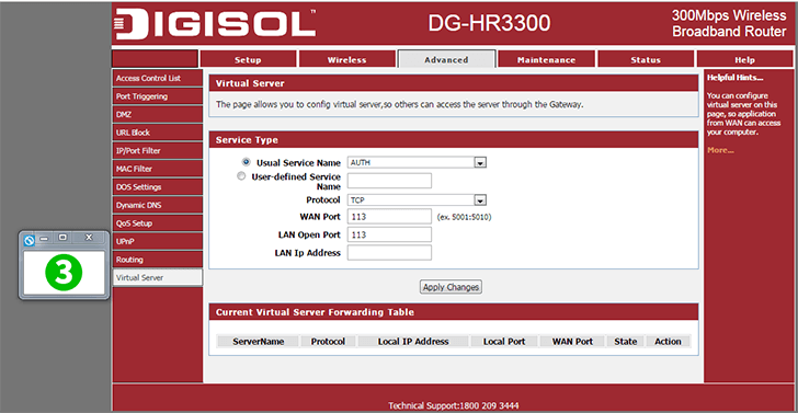 Digisol DG-HR3300 Step 3