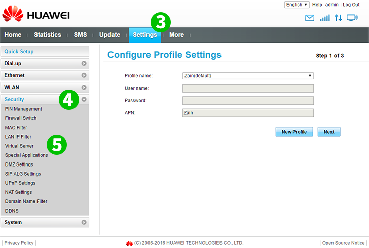 Enable port forwarding for the Huawei B315s-936 - cFos Software