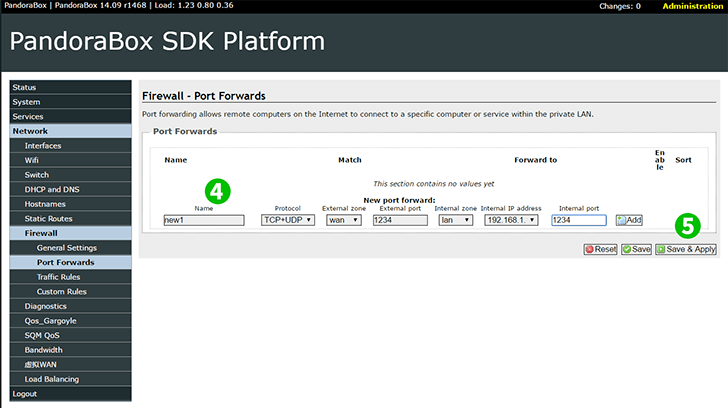 Pandorabox SDK version 14.09 Steps 4-5
