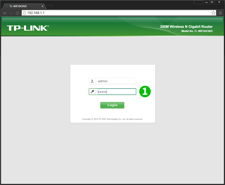 TP-Link TL-WR1043ND Step 1