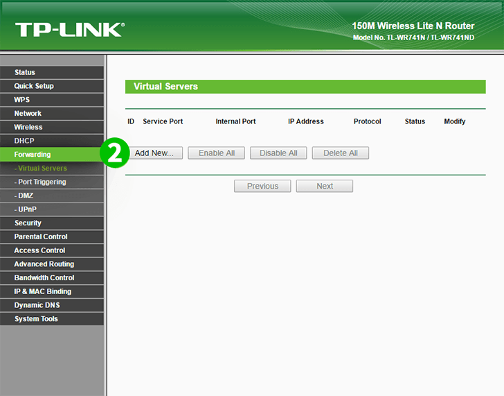 TP-Link TL-WR741ND Step 2
