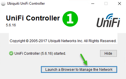 UniFi Security Gateway 3P Step 1