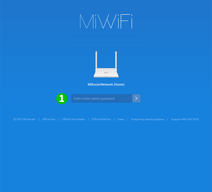 Xiaomi MiWiFi Mini Step 1