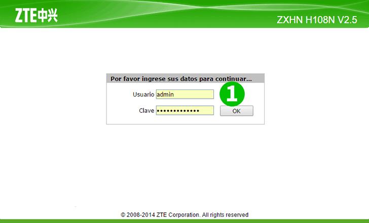 Enable port forwarding for the ZTE ZHXN H108N V2 5 - cFos