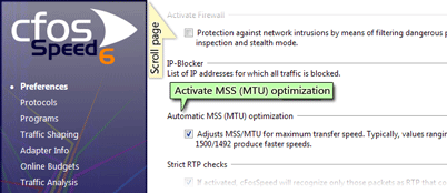 automatic MSS (MTU) optimization