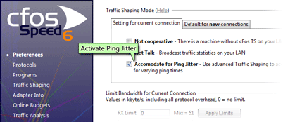 activate ping jitter