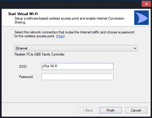 Configuration of the cFosSpeed Wi-Fi access point